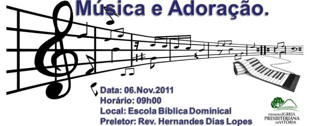 """Todos os integrantes do departamento musical da igreja estão convidados a participar de uma aula especial sobremúsica e adoraçãoque será ministrada por nosso pastor """"Rev. Hernandes Dias Lopes"""". Em seguida […]"""