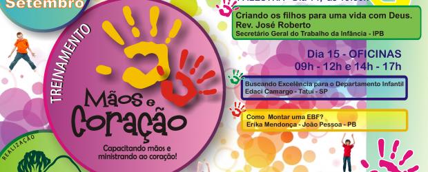 Dias 14 e 15 de Setembro. Acontecerá em nossa igreja o treinamento visando a capacitação no trabalho com crianças. Serão oferecidas palestras e oficinas, conforme programação abaixo: 14/09/2012 – 19h30 […]