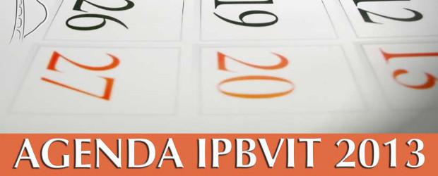 Veja abaixo a agenda da igreja para o ano de 2013.