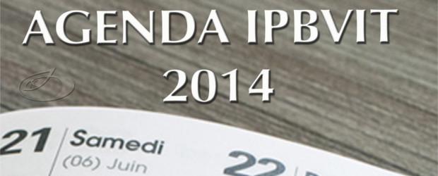 Veja abaixo a Agenda 2014.
