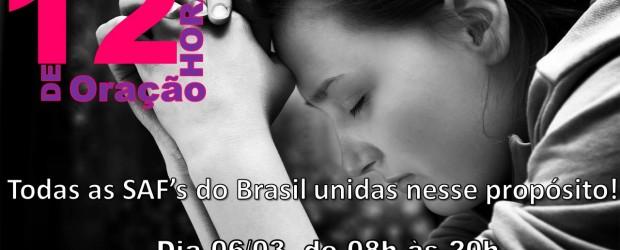DIA DE ORAÇÃO DAS SAF's – Desde 1973, as Sociedade Auxiliadoras Femininas de todo o Brasil se unem em oração, na 1ª sexta-feira do mês de março. A finalidade do […]