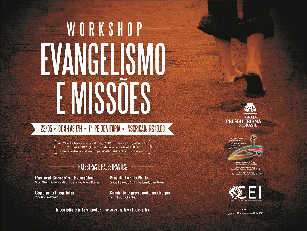 Cartaz  workshop missoes