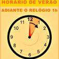Já estamos no horário brasileiro de verão. Adiante seu relógio em uma hora .