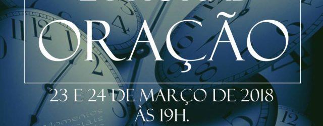 A Primeira Igreja Presbiteriana de Vitória realiza entre os dias 23 e 24 de março a jornada 24 Horas de Oração, com início e término às 19h. Os participantes colocarão […]
